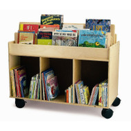 Whitney Brothers Mobile Book Storage Island - WB0383