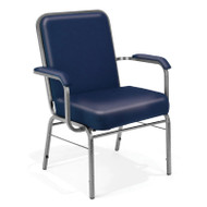 OFM Big and Tall Anti-bacterial Vinyl Arm Stacking Chair 500 lbs. Capacity (3-pack) - 300-XL-VAM-3PK
