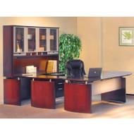 "Mayline Napoli Veneer Series Suite 36 - Executive Workstation 72"" U-Shaped Right Sierra Cherry - NT36-CRY"