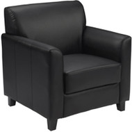 Flash Furniture HERCULES Diplomat Series Black LeatherSoft Chair- BT-827-1-BK-GG