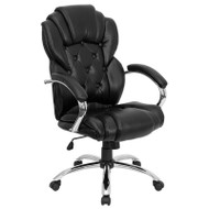 Flash Furniture High Back Transitional Style Black Leather Executive Office Chair - GO-908A-BK-GG