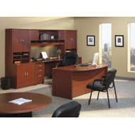 Bush Business Furniture Series C Package Executive Bowfront Desk Mahogany - MAHPackageD