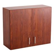 Safco Hospitality Base 2-Door Wall Cabinet, Mahogany - 1700MH
