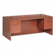 "HON 11500 Series Valido Executive Double Pedestal Desk 72"" Rectangular, Assembled - 11593"
