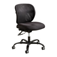 Safco Vue Intensive Use Mesh Task Chair with Fabric Seat - 3397BL
