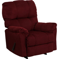 Flash Furniture Contemporary Top Hat Berry Microfiber Rocker Recliner - AM-9320-4170-GG