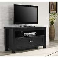"Walker Edison Cortez 44"" TV Console, Black - W44CSBL"