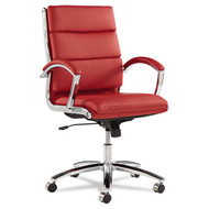 Alera Neratoli Mid-Back Soft-Touch Leather Chair Red - NR4239