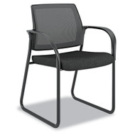 HON Ignition Series Mesh Back Guest Chair with Sled Base Black - IB108NT10