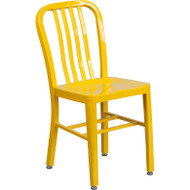 Flash Furniture Yellow Metal Indoor-Outdoor Chair (2-pack) - CH-61200-18-YL-GG