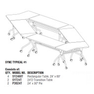 Mayline Sync Laminate Training Table Package 1 - SYNC1
