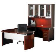 "Mayline Napoli Veneer Series Suite 34 - Executive Workstation 63"" U-Shaped Right Sierra Cherry - NT34-CRY"