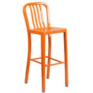"Flash Furniture Orange Metal Indoor-Outdoor Barstool 30""H (2-Pack) - CH-61200-30-OR-GG"