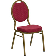 Flash Furniture Hercules Series Teardrop Back Stacking Banquet Chair Burgundy - FD-C04-ALLGOLD-2804-GG