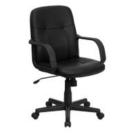Flash Furniture Mid-Back Black Glove Vinyl Executive Office Chair - H8020-GG