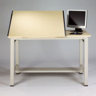 """Mayline Ranger Steel Split-Top Drawing Table with Tool Drawer 72"""" - 7773A"""
