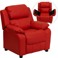 Flash Furniture Kid's Recliner with Storage Red Vinyl - BT-7985-KID-RED-GG