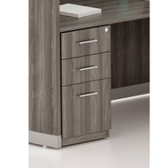 Mayline Medina Laminate Pedestal Drawer for Reception Desk (Box/Box/File) Assembled Gray Steel - MNRBBF-LGS