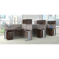 Bush Furniture Office-in-an-Hour L-Shaped Desk Workstation 3-units Mocha - OIAH006MR