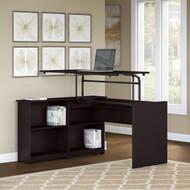"Bush Cabot Sit to Stand Desk 52""W 3 Position Espresso Oak - WC31816-03"