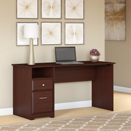 "Bush Cabot Computer Desk with Drawers 60""W Harvest Cherry - WC31460-03"