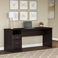 "Bush Cabot Computer Desk with Drawers 72""W Espresso Oak - WC31872-03"