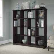 Bush Cabot Collection Bookcase 16-Cube Espresso Oak - WC31803-03