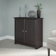 Bush Cabot Collection Low Storage Cabinet with Doors Espresso Oak - WC31896-03