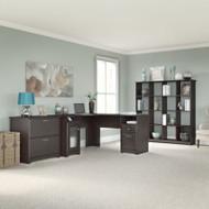 "Bush Cabot Collection L-Shaped Desk 60""W Package Espresso Oak - CAB014EPO"