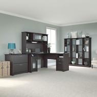 "Bush Cabot Collection L-Shaped Desk 60""W Package Espresso Oak - CAB015EPO"