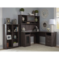 "Bush Cabot Collection L-Shaped Desk 60"" Package Heather Gray - CAB004HRG"