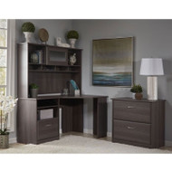 Bush Cabot Collection Corner Desk Package Heather Gray - CAB007HRG