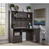 Bush Cabot Collection Corner Desk Package Heather Gray - CAB008HRG