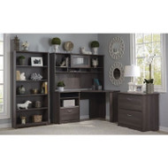 Bush Cabot Collection Corner Desk Package Heather Gray - CAB009HRG