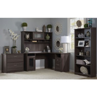 Bush Cabot Collection L-Shaped Desk Package Heather Gray - CAB010HRG