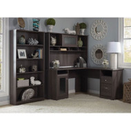 Bush Cabot Collection L-Shaped Desk Package Heather Gray - CAB011HRG