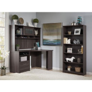 Bush Cabot Collection Corner Desk Package Heather Gray - CAB012HRG