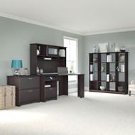 """Bush Cabot Collection Corner Desk Package 60""""W Espresso Oak - CAB021EPO"""