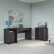 "Bush Cabot Collection Writing Desk Package 48""W Espresso Oak - CAB027EPO"
