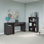 "Bush Cabot Collection Writing Desk Package 48""W Espresso Oak - CAB029EPO"