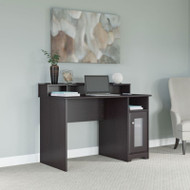 "Bush Cabot Collection Single Pedestal Desk with Desktop Organizer 48""W Espresso Oak - CAB030EPO"