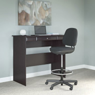 "Bush Cabot Collection Standing Height Desk 48""W with Chair Espresso Oak - CAB041EPO"