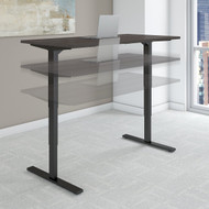 Bush Move 80 Series 60W x 30D Height Adjustable Standing Desk in Storm Gray with Black Base - HAT6030SGBK