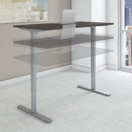 Bush Move 80 Series 60W x 30D Height Adjustable Standing Desk in Storm Gray - HAT6030SGK