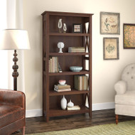 Bush Key West Bookcase 5-shelf Bing Cherry - KWB132BC-03