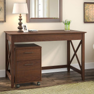 Bush Key West 48W Writing Desk with 2 Drawer Mobile Pedestal - KWS001BC