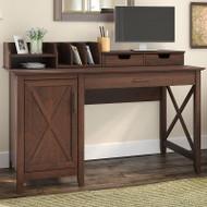 Key West 54W Single Pedestal Desk with Desktop Organizers - KWS010BC