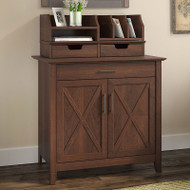 Bush Key West Laptop Storage Credenza with Desktop Oraganizer - KWS011BC