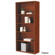 "HON 10700 Series Wood Bookcase Five Shelf 71"" x  32"" - 107569"