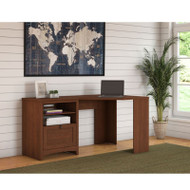 "Bush Furniture Buena Vista Corner Desk 60""W, Serene Cherry - MY13615-03"